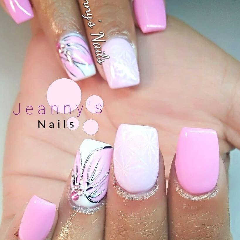 Pink Flower Set Ny Nails Foil Nail Art Planet Nails