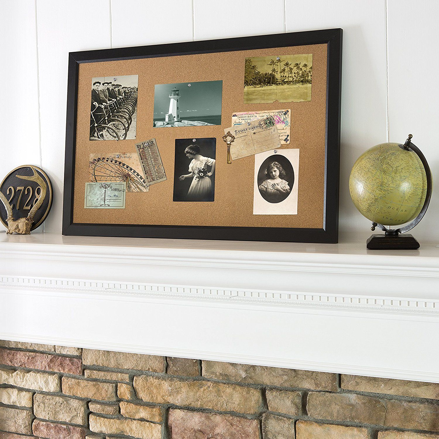 Black framed cork board for pictures. | Beatie Street Wall Pictures ...