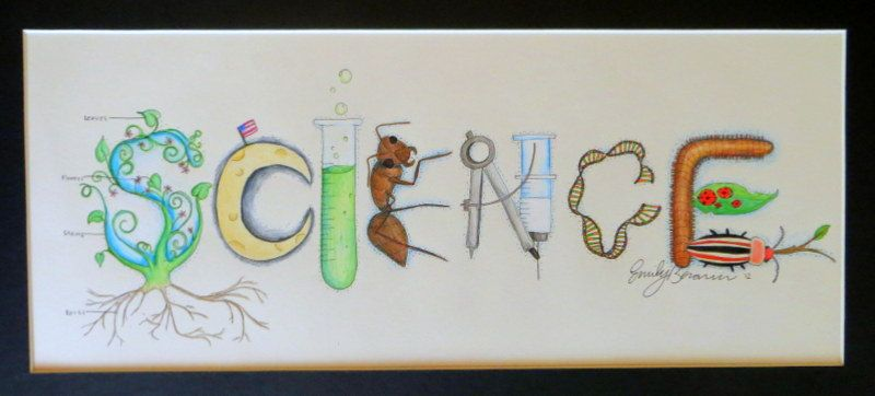 Science Classroom Decorating Themes ~ Science theme name art sign classroom decor via