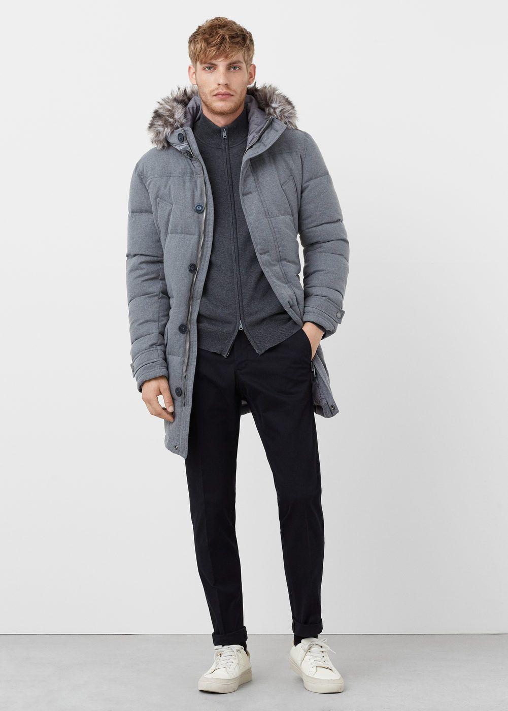 zapatos para baratas completamente elegante amplia selección de colores y diseños Anorak plumón pelo - Hombre   Abrigos de hombre   Winter ...