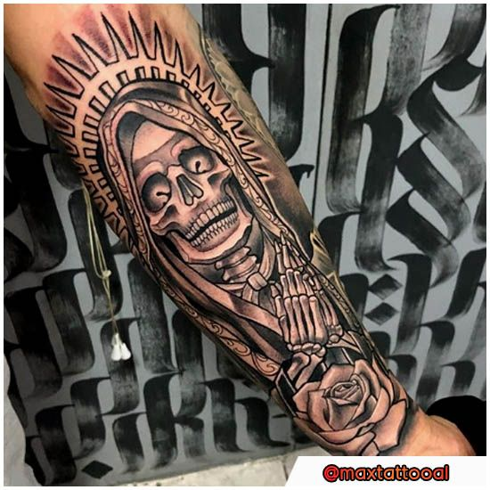 Tribal Santa Tatoo: Santa Muerte Tattoo Chicano E New SchoolSanta Muerte