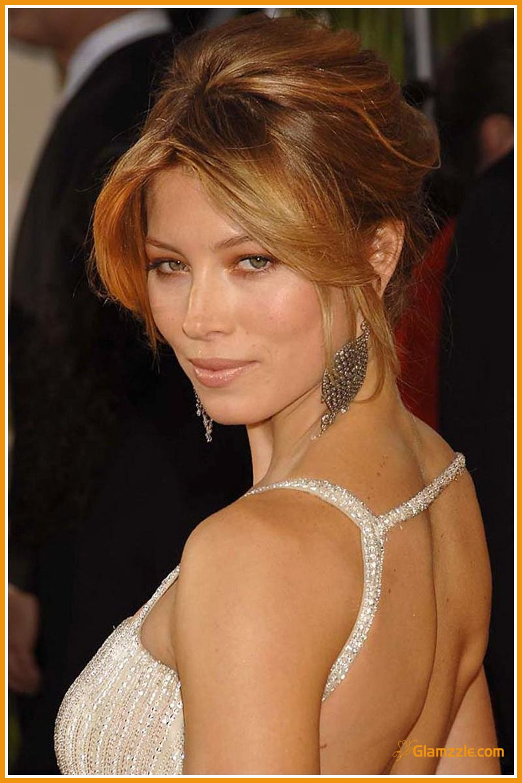 Jessica biel in a former updo hairstyle updos pinterest updo