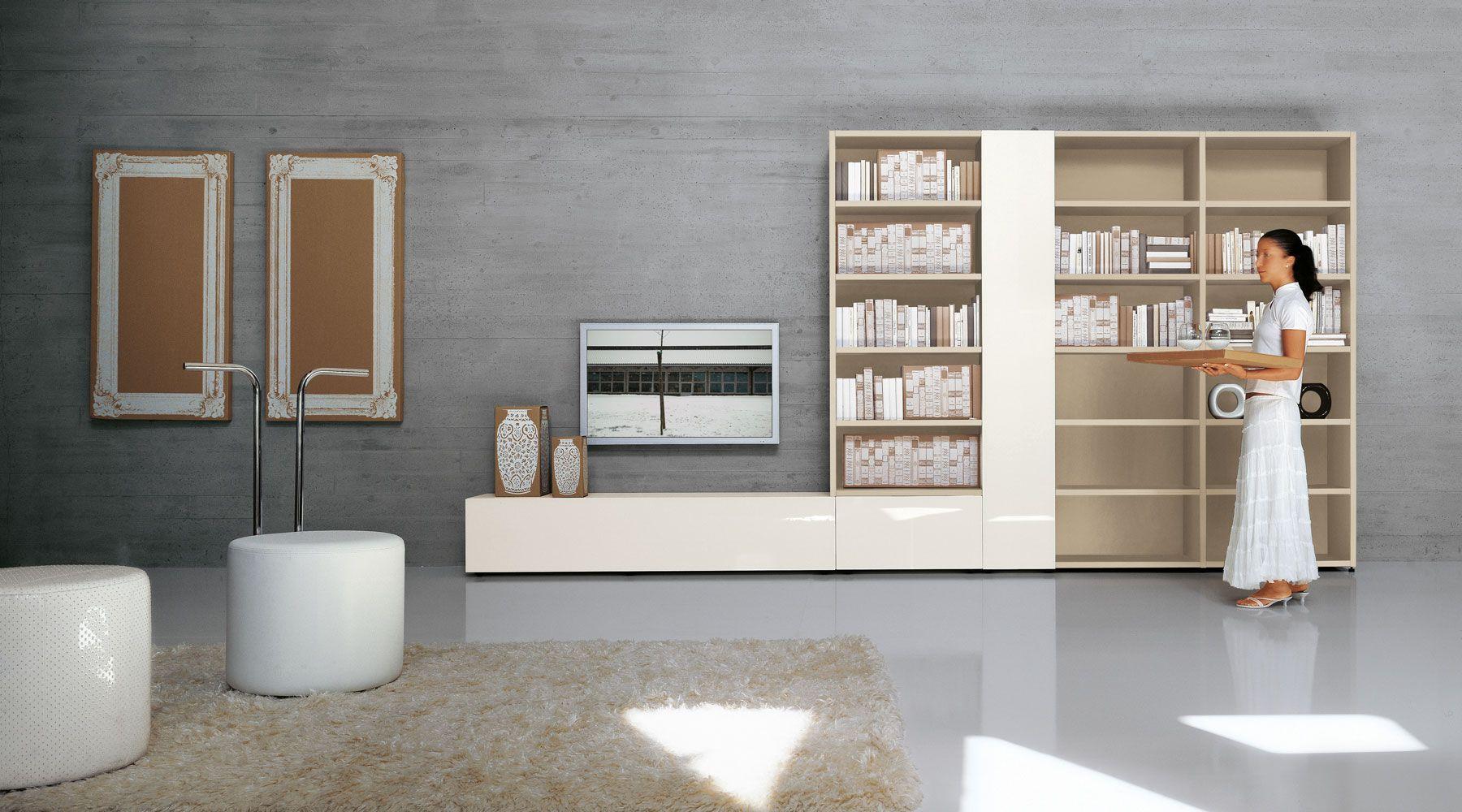 Librerie lago libreria modulabile moderna in legno for Lago librerie prezzi