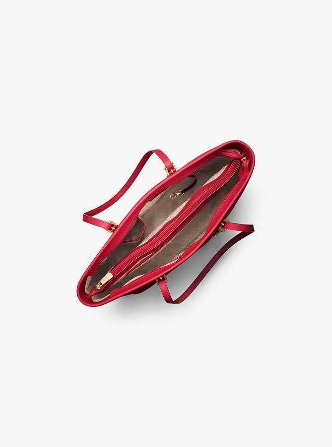 9de8270365c7 MICHAEL Michael Kors Jet Set Travel Medium Saffiano Leather Top-Zip Tote