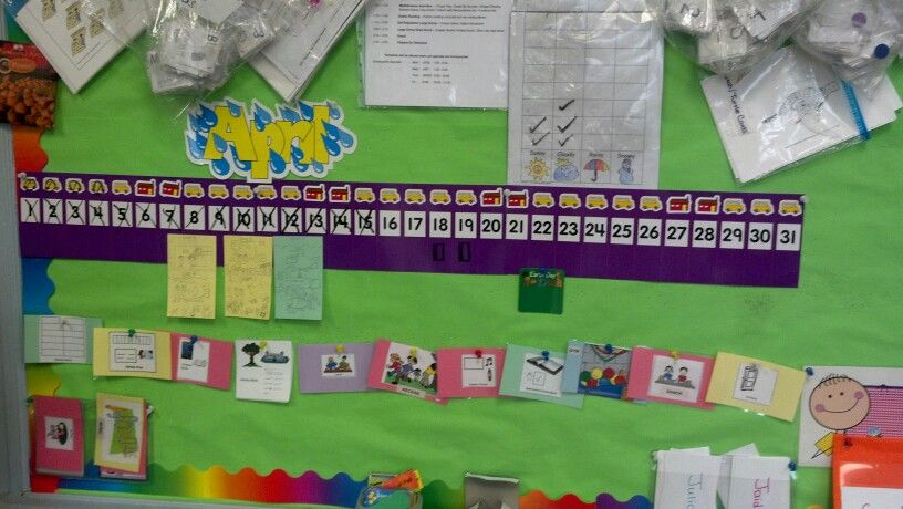 Linear Calendar In Kindergarten : Tools of the mind linear calendar with class