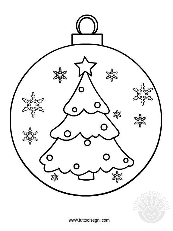 Risultati Immagini Per Palline Di Natale Da Colorare Per Bambini