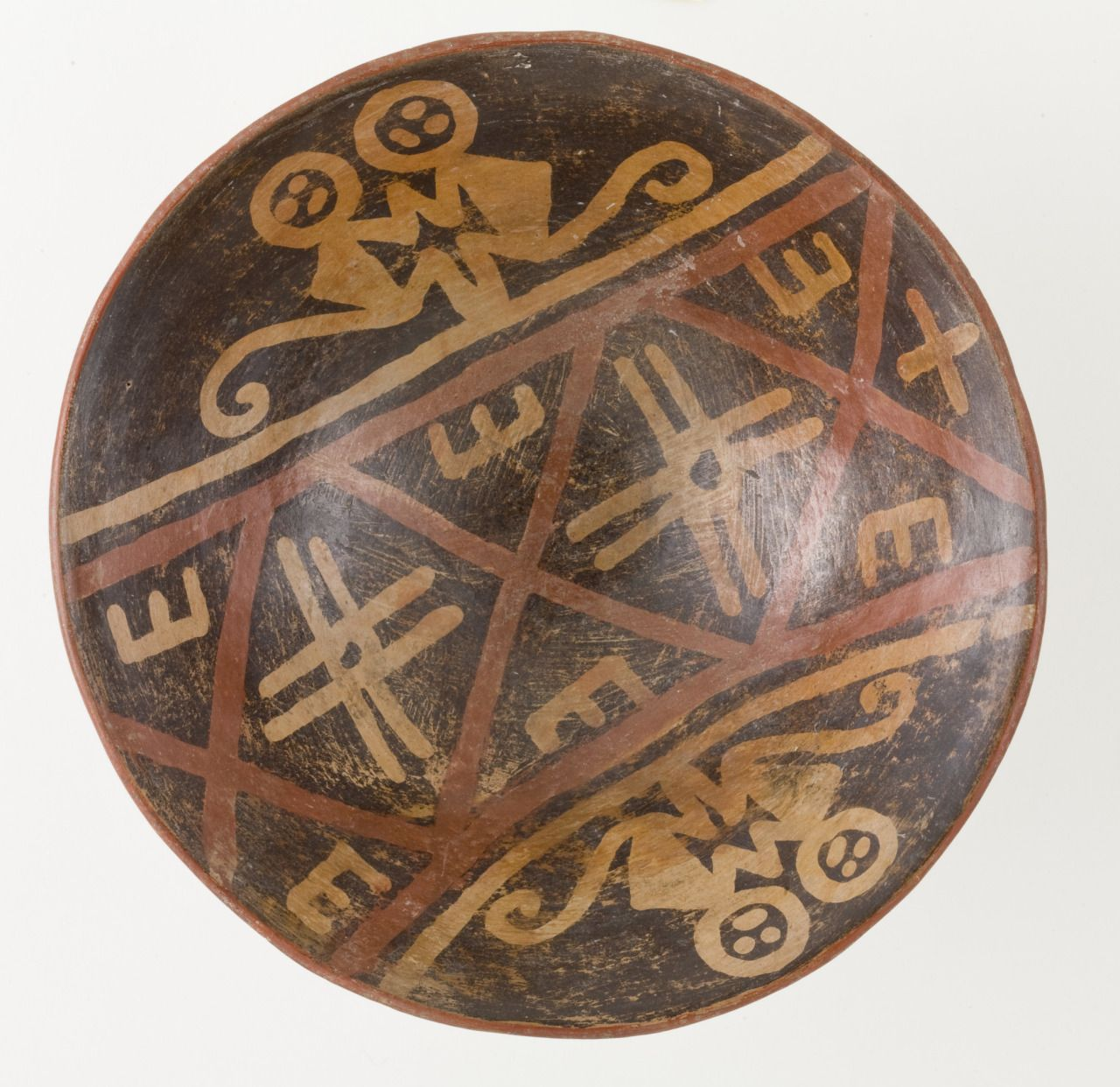 Tlatollotl — Footed Bowl Depicting a Pair of Monkeys Colombia,...