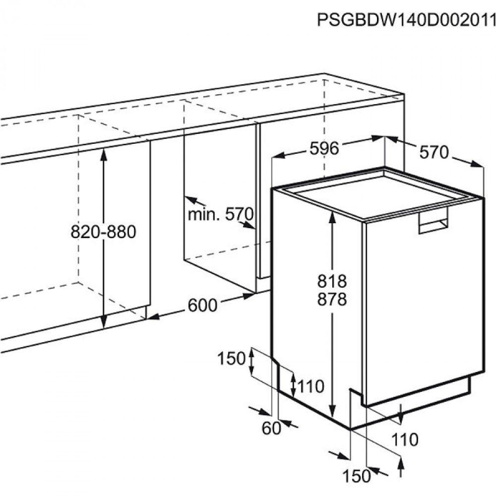 Resultado de imagen para medidas estandar lavavajillas d - Medidas estandar de muebles de cocina ...