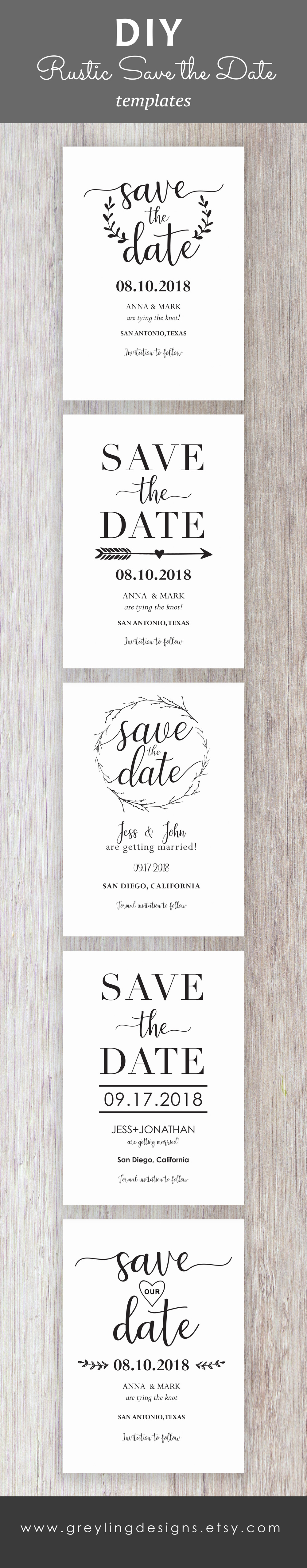Rustic Save The Date Save The Date Template Printable Save The - Rustic save the date templates