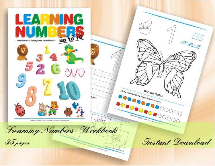 Learning numbers up to 10 - Preschool & Kindergarten Worksheets ...