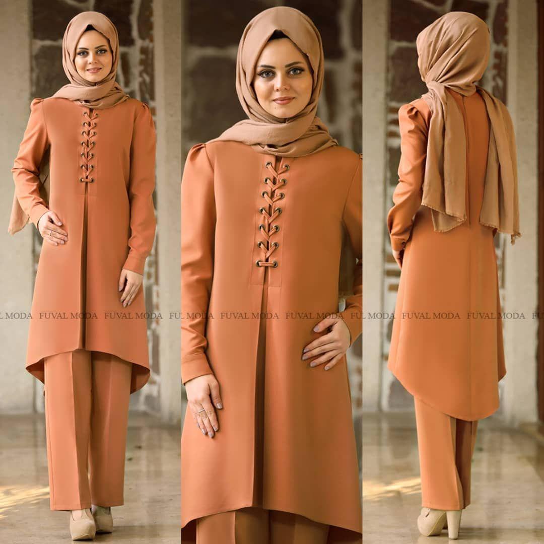 Mina Tunik Pantolon Ikili Takim Tesettur Ferace Elbise Modelleri 2019 Moda Stilleri Elbise Modelleri Moda