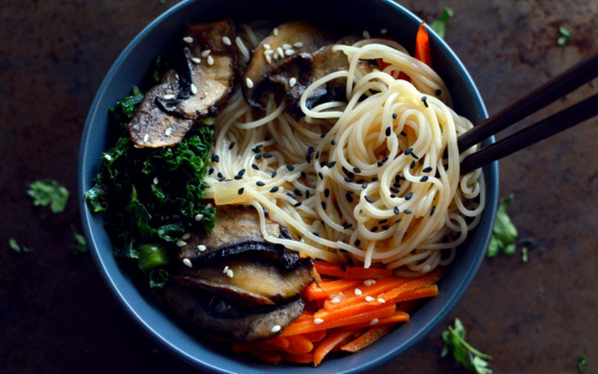 Sesame Portobello Ramen Vegan, Gluten-Free | Whole food ...