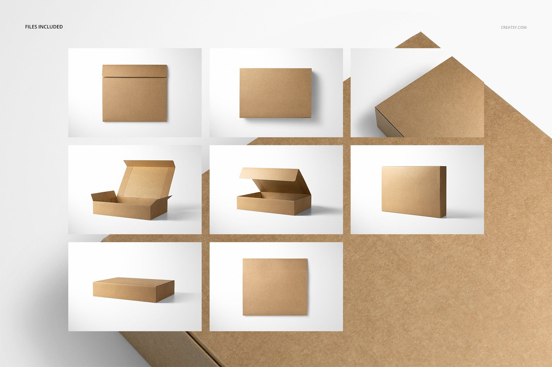 Download Natural Kraft Set Box Mockup Set Box Mockup App Design Inspiration Creative Market