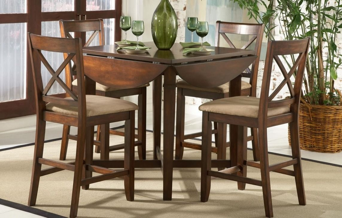 Kitchen Table Sets For Small Spaces With Lovely Marlin Octagon Wood Round Dinette Sets Combin Dining Room Table Set Narrow Dining Tables Kitchen Table Settings