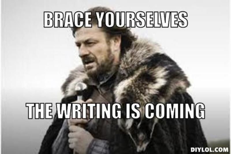 Image result for writing meme