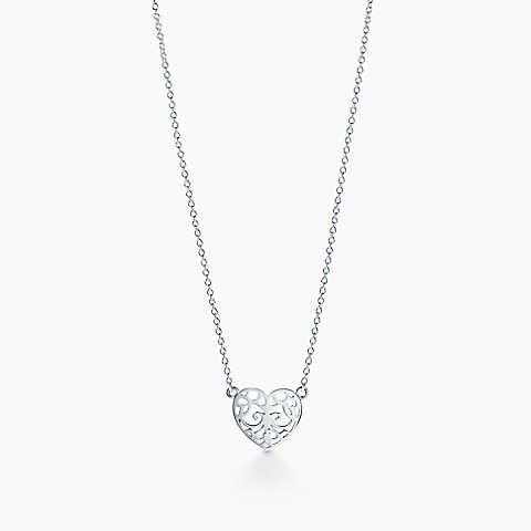 Tiffany enchant heart pendant in sterling silver mini fashion tiffany enchant heart pendant in sterling silver mini mozeypictures Choice Image