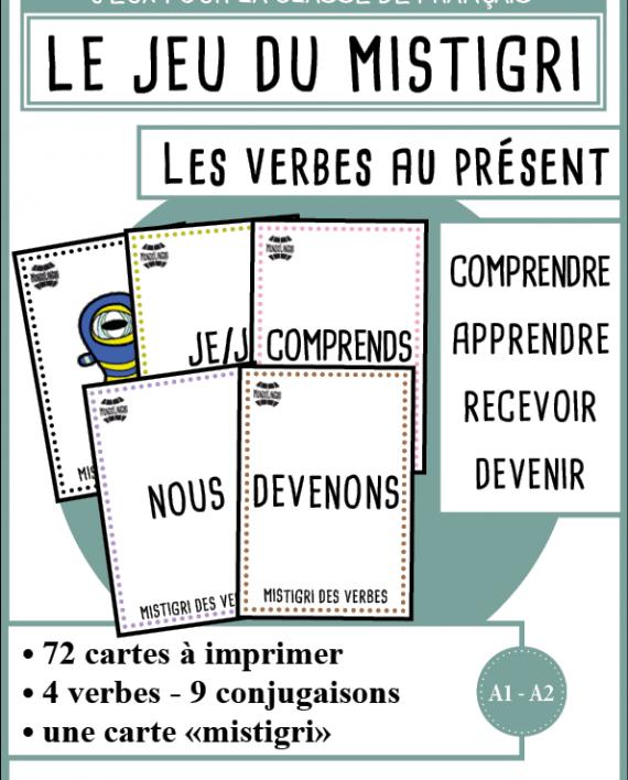 Mistigri Des Verbes Comprendre Apprendre Recevoir Devenir Mondolinguo Francais Jeu Conjugaison Apprendre L Anglais Jeux De Grammaire