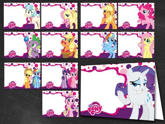 24 My Little Pony My Little Pony Labels Print Your Own My