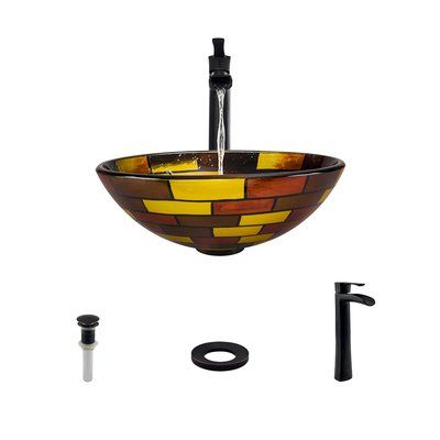 MRDirect Stained Circular Vessel Bathroom Sink Faucet Finish