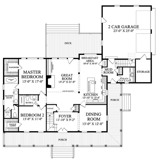 Traditional Style House Plan 4 Beds 3 Baths 2556 Sq Ft Plan 137