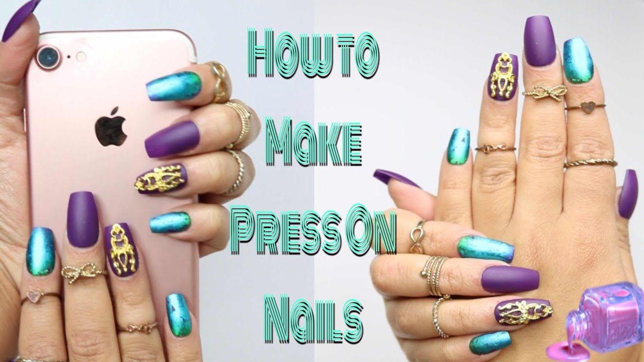 Diy fake nails how to make press on nails nail hack