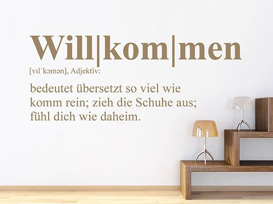 Photo of Wall Decal Welcome Definition WANDTATTOO.DE