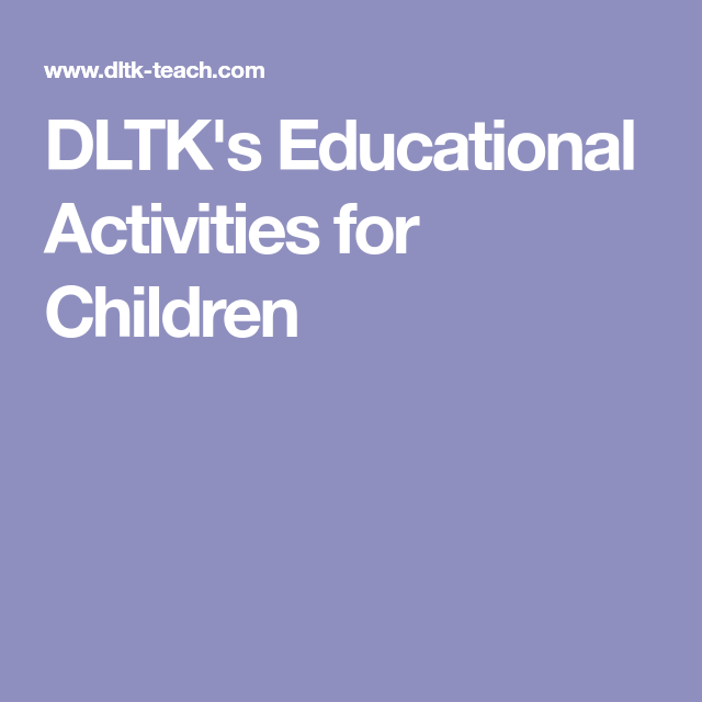 DLTK\'s Educational Activities for Children | Aba free material ...