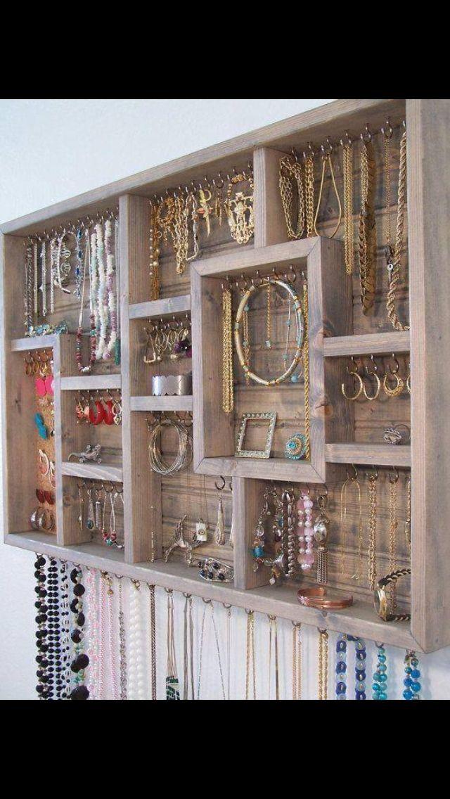 Jewelry organizer Teen bedroom DIY Pinterest Organizations