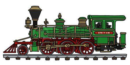 Dessin Locomotive Dessin A La Main D Un Vert Locomotive A Vapeur