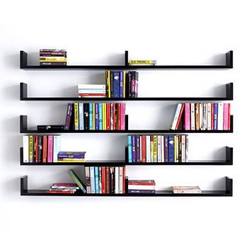Wall Mounted Design Bookshelves Ideas What About Suspending These From A Pipe Frame Instead Of Mounting