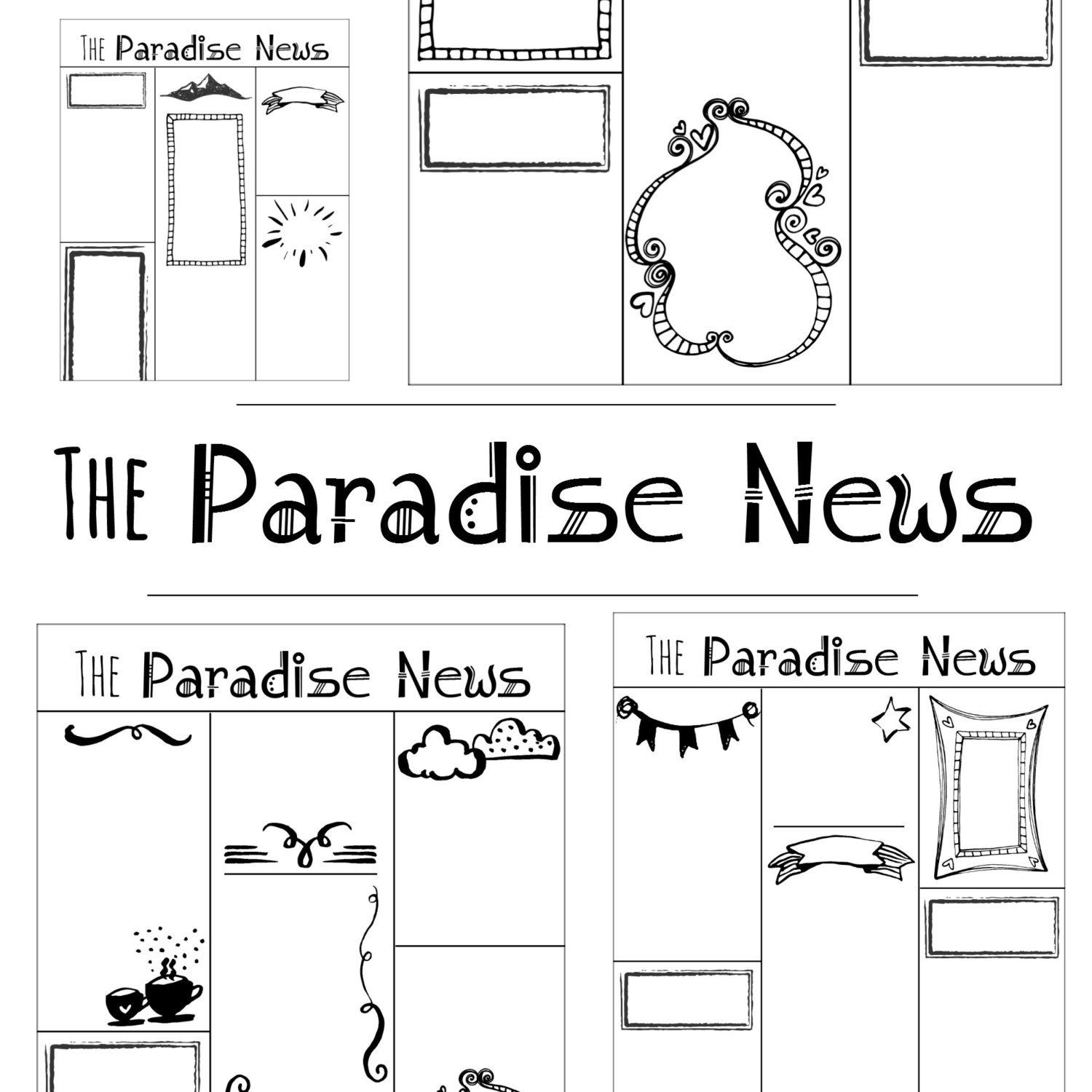 Family Worship Project Write Your Own Paradise News Articles