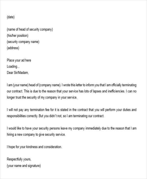 sample resignation letters service agreement templatemple contract - resignation letter examples