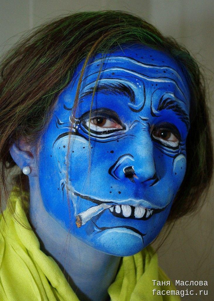 Alcoholic  Face paint by Tanya Maslova  | Make Up | Face