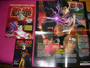 Tekken 3 w/ Memory Card Stickers, Poster and pocket guide Strategy