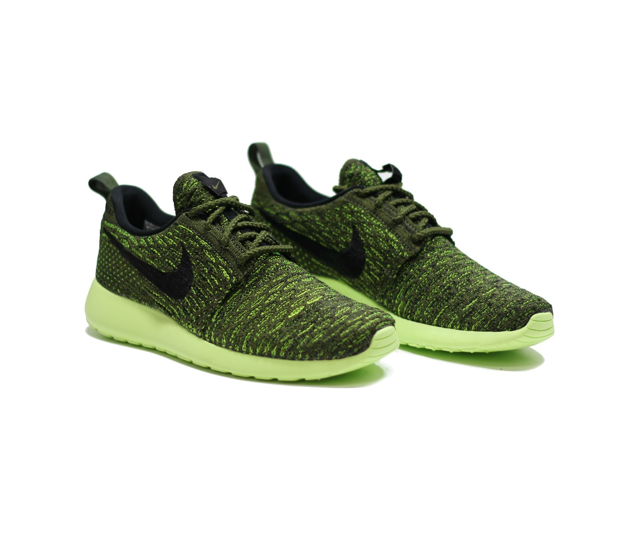 0bcf995a638d NIKE  WMNS Roshe Run Flyknit - Rough Green Blck