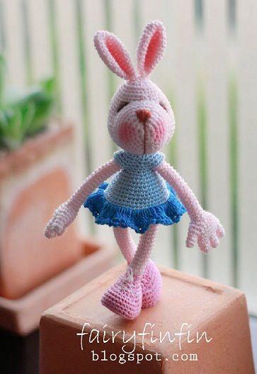 crochet   Ratones y conejos Amigurimi   Pinterest   Conejo