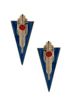 enamel shield stud earrings, top shop