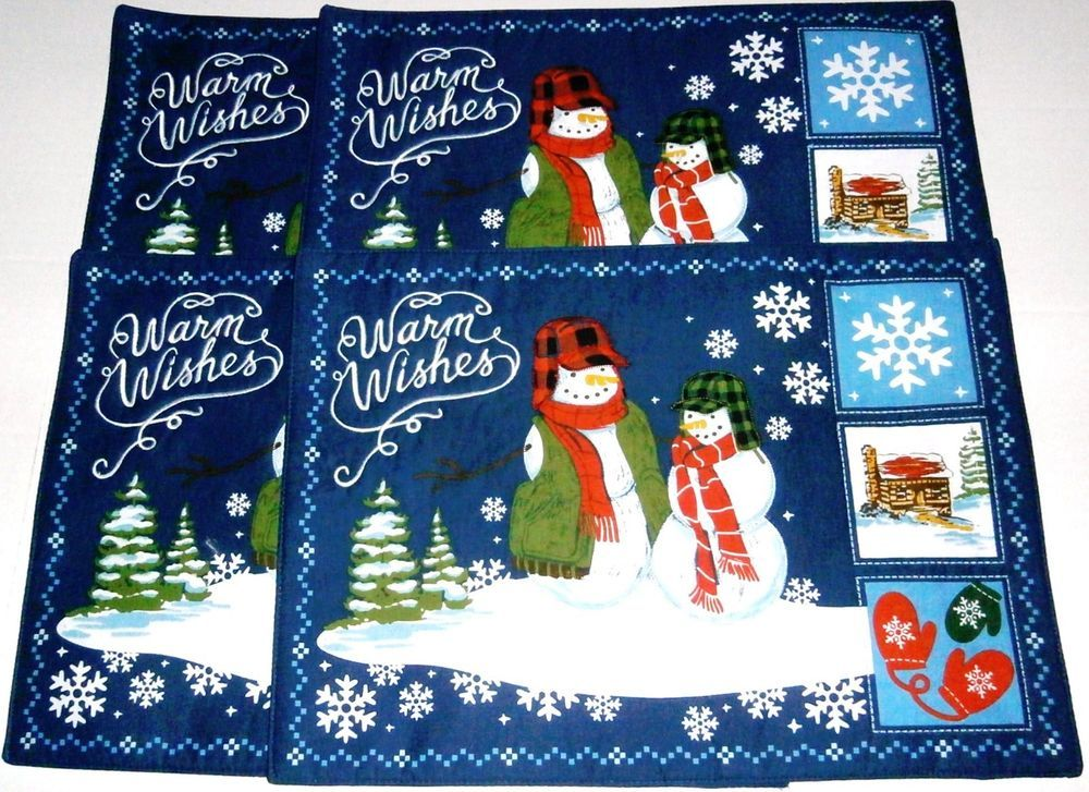Christmas Placemats By St Nicholas Square Warm Wishes 4ct Christmas Placemats St Nicholas Square Placemats