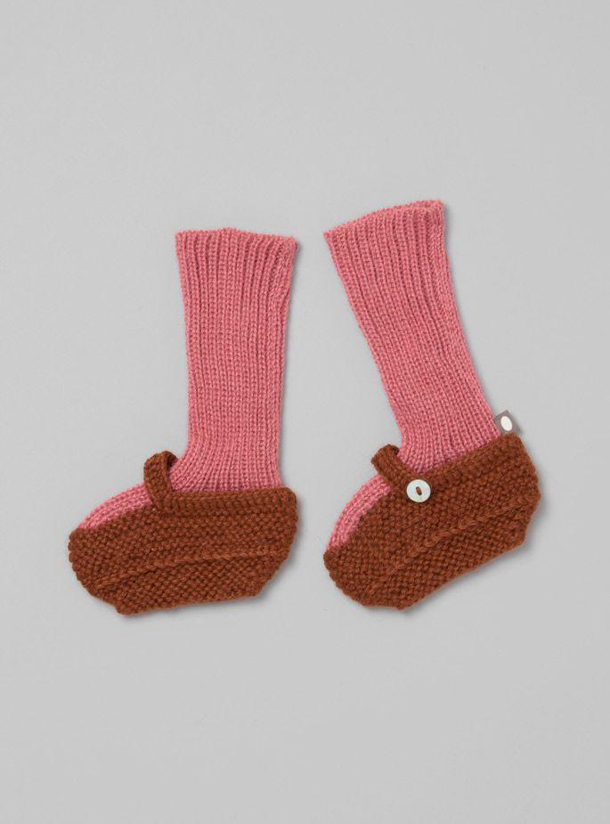 27fdd38faa7a1 Oeuf - Baby Alpaca Bootie Socks | tejidos / knitted | Pinterest ...