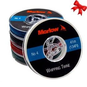 Marlow Whipping Twine Size 4-41m 134ft BLACK