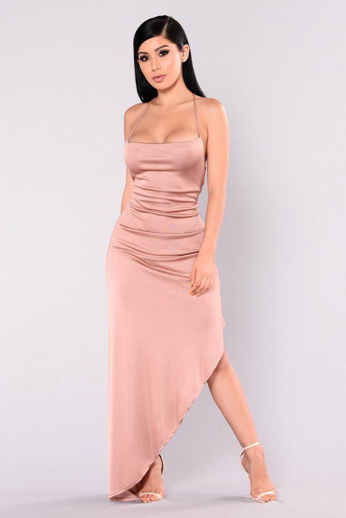 Kera Maxi Dress - Rose Gold | Curvas, Vestido de gala y Ropa linda