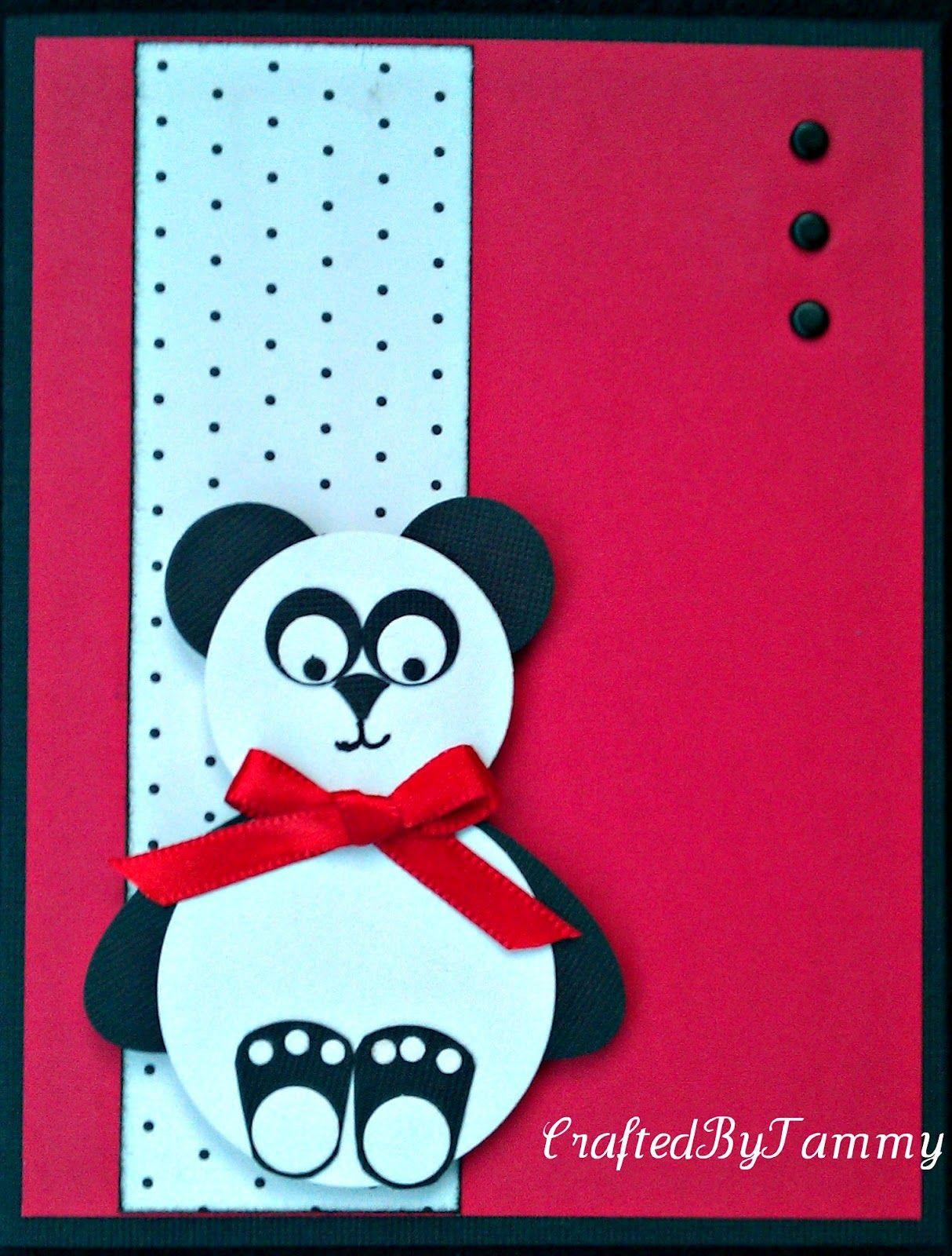 Inkpaperscissorsyarn panda card panda birthday