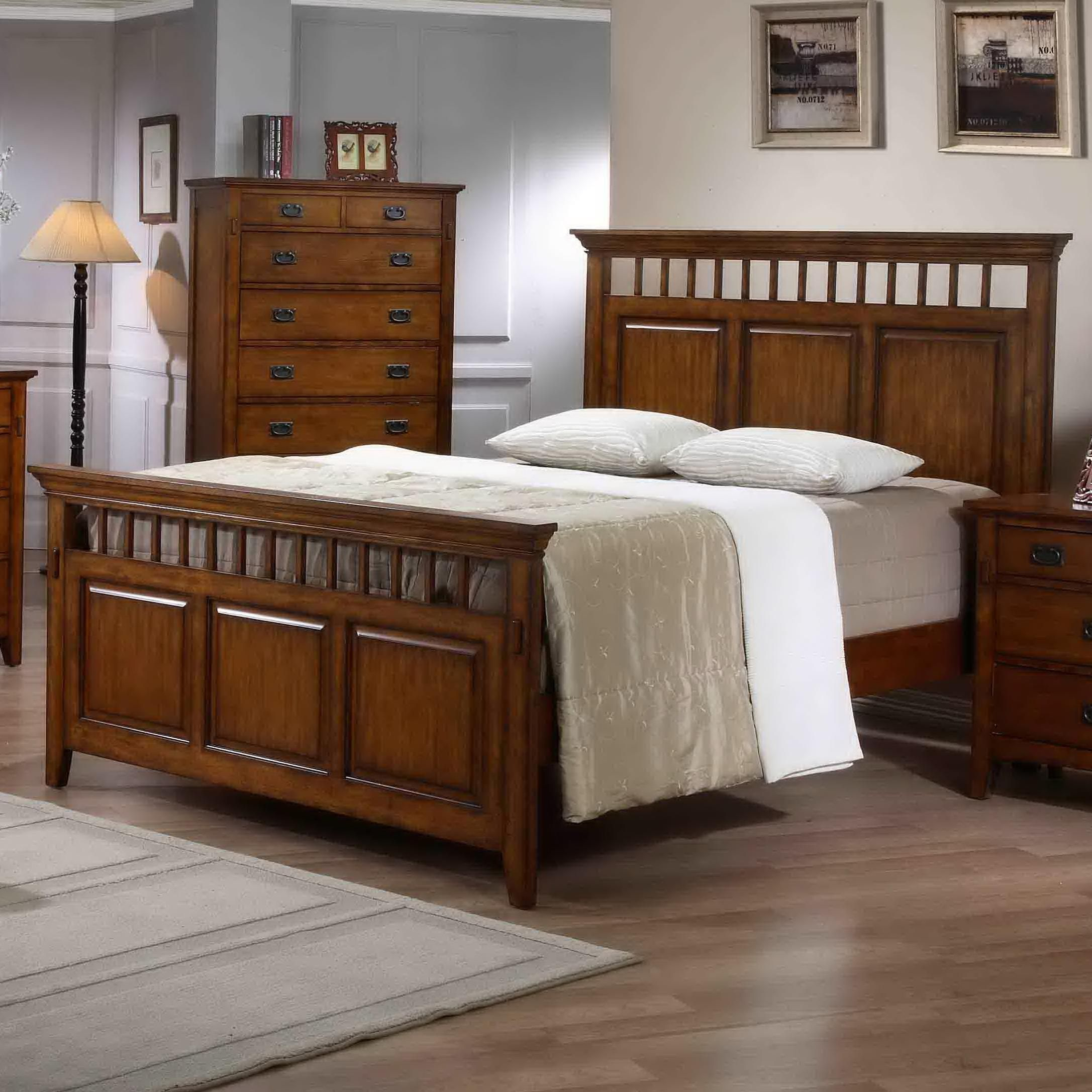 Mission style bedroom furniture - Elements International Trudy King Mission Style Panel Bed Rife S Home Furniture Headboard Footboard