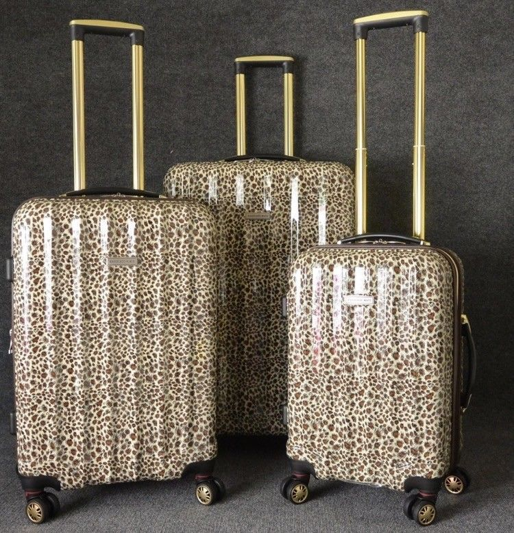 Leopard Luggage Set With Wheels 3 Piece Sets For Women 3