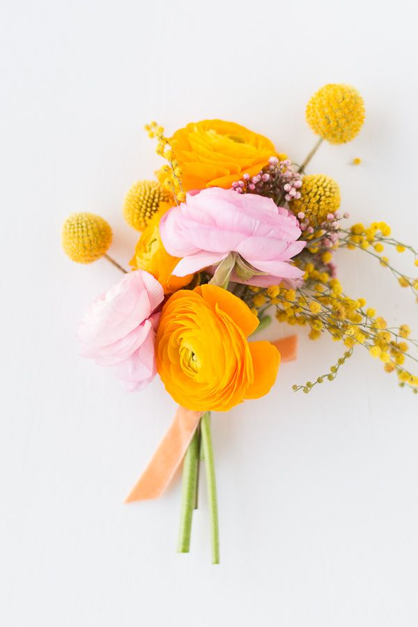 Spring Mini Florals: Bouquets and Boutonnieres for Weddings and Everyday Entertaining