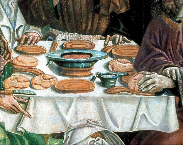 The Supper at Bethany from an altarpiece at Thal, 1498