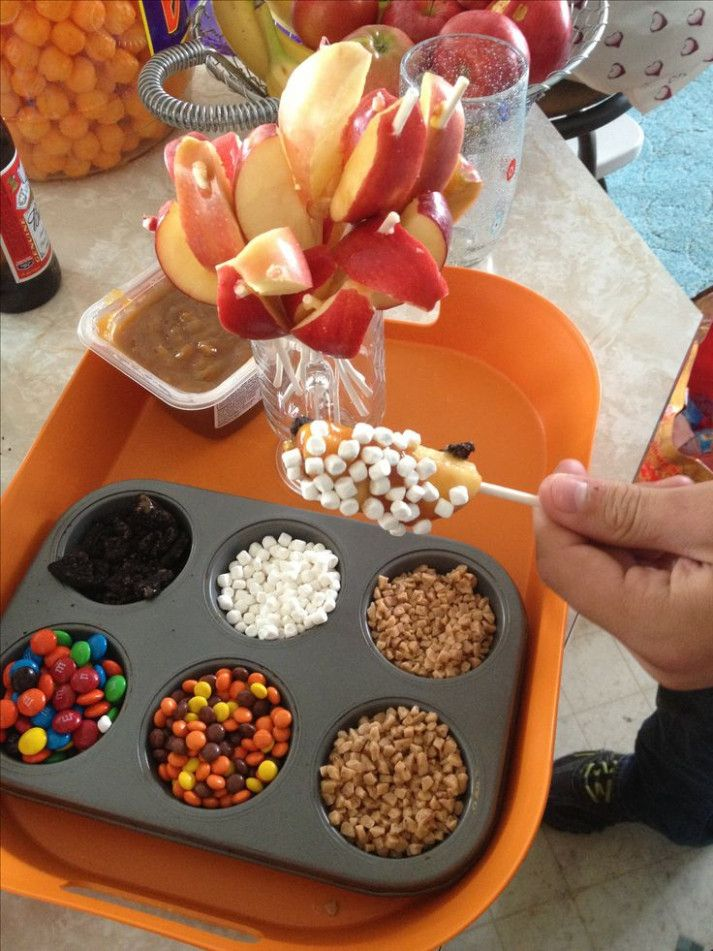 - Caramel apple dipping station #caramelapples