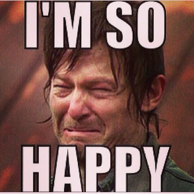 Even when Daryl Dixon makes the Ugly cry face he's ...