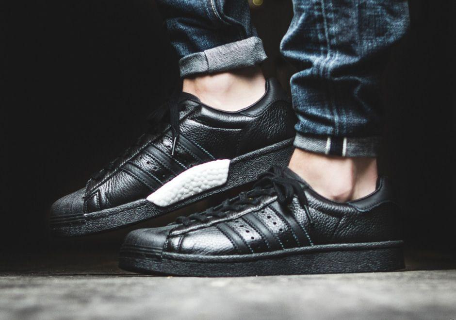 adidas superstar boost black