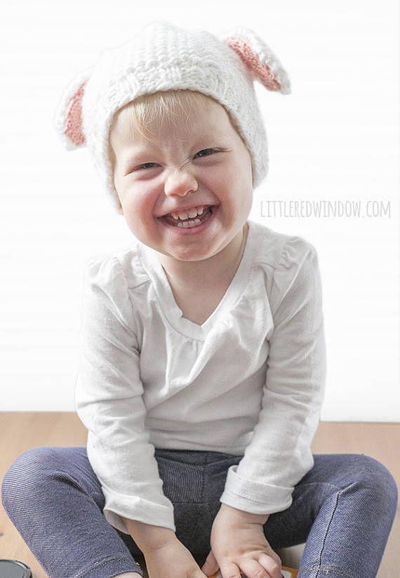 Lamb Baby Hat KNITTING PATTERN / White Baby Lamb / Lamb Baby Outfit ...
